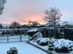 Sunset snowy scene
